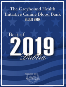 The Greyhound Health Initiative Canine Blood Bank Best of 2019 Dublin Awards